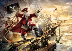 santa claus on the ship