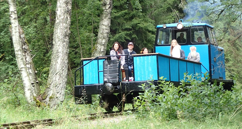 Naissaar narrow gauge train